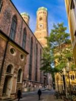 View of Frauenkirche in Munich