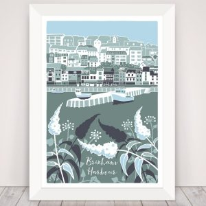 framed brixham harbour print