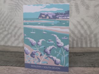 A6 greetings card featuring shaldon in south devon