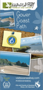 Gower cast path pamphlet map
