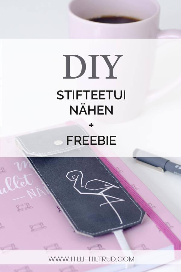 Gratis Nähanleitung + Freebie für ein Stifteetui. Kostenloses Schnittmuster für Bullet Journal Bullet Diary Nähen