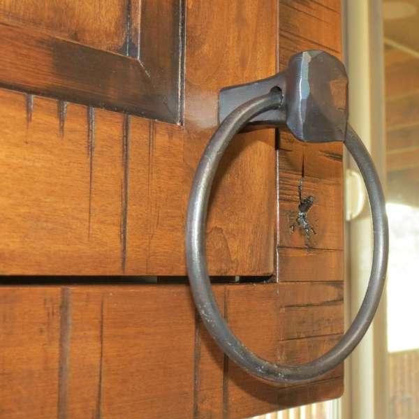 square knob towel ring pull
