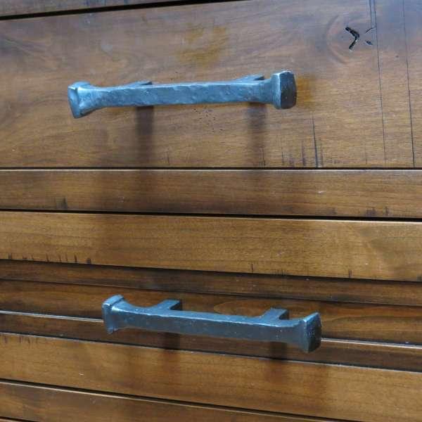 square knob drawer pull