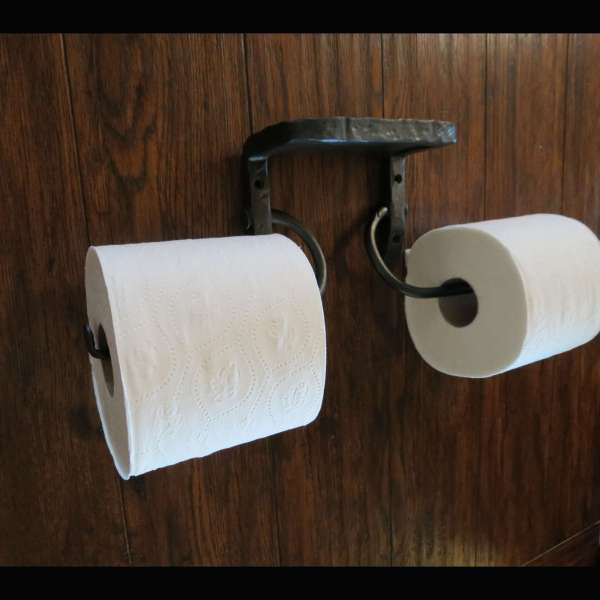 dual toilet paper holder