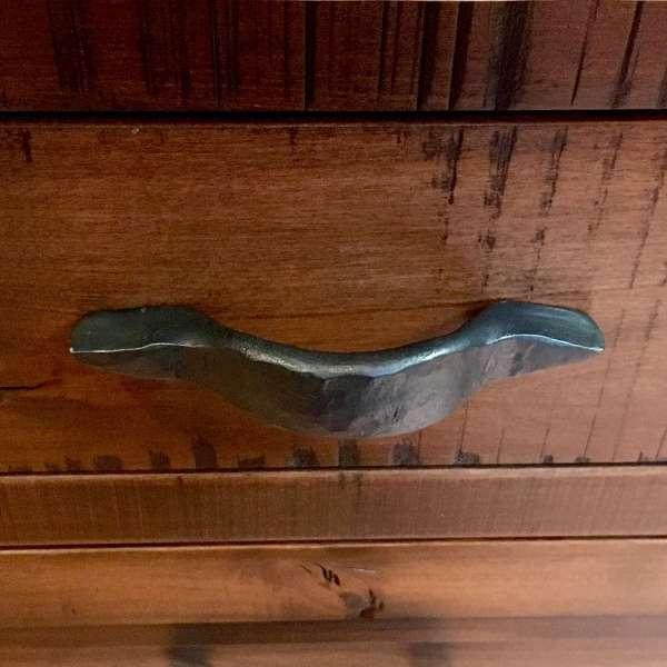 Flattened Railroad Spike Drawer Pull