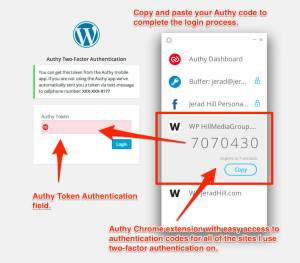 Authy Authenticator with Google Chrome Extension