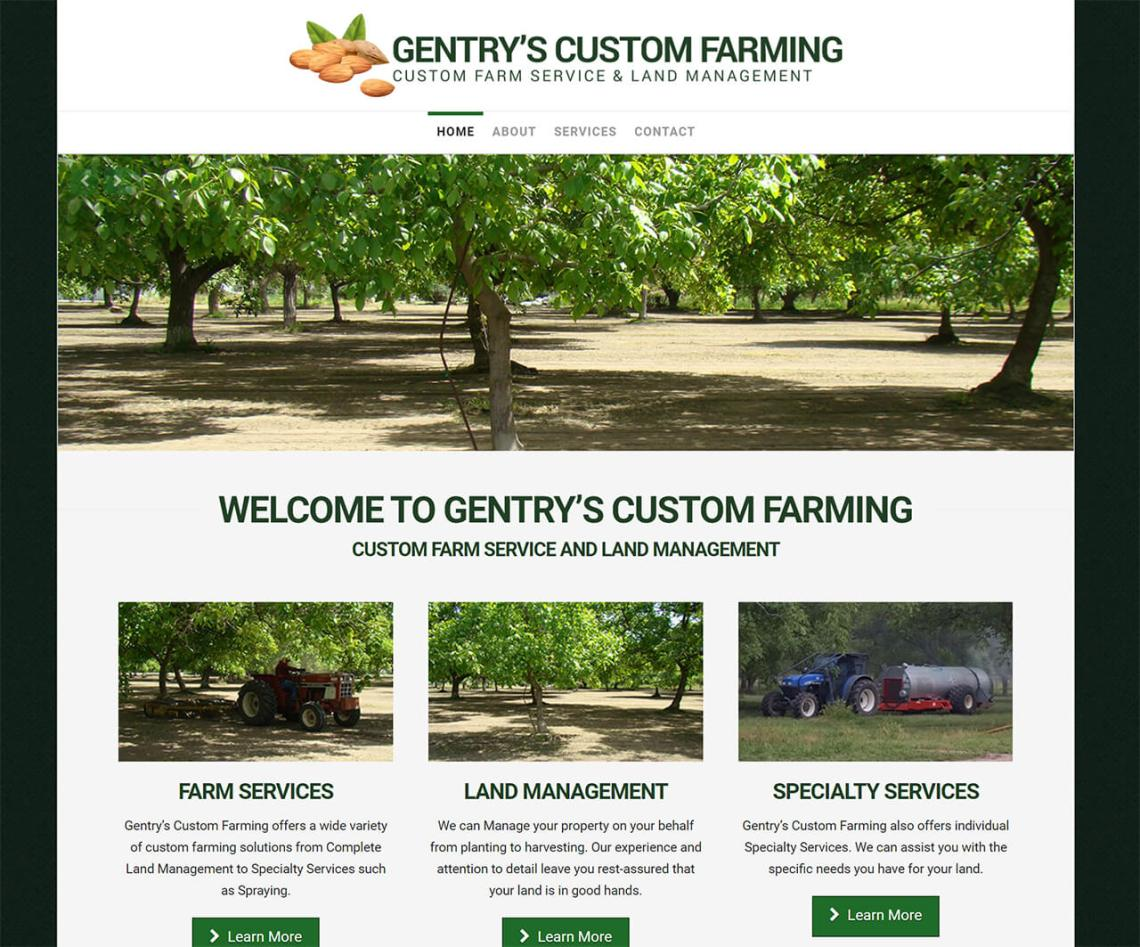 Gentrys Custom Farming Custom Farm Service and Land Management