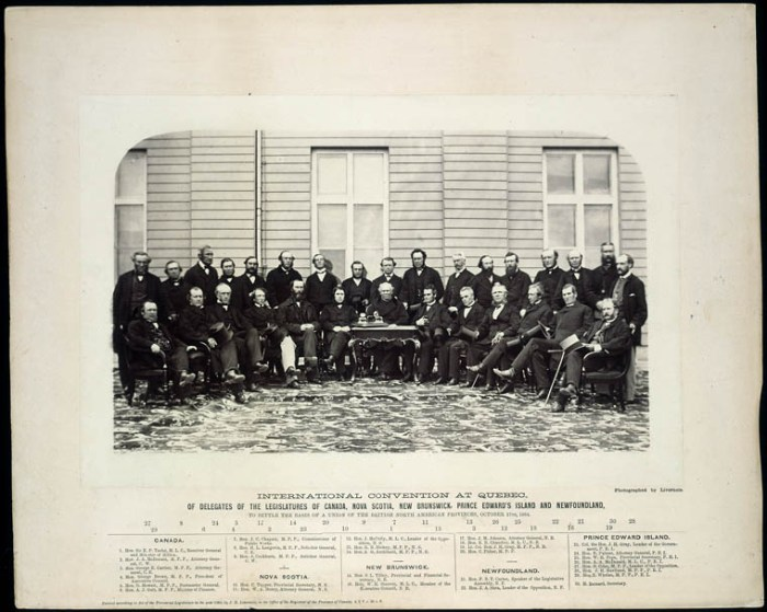 Convention at Quebec of Delegates of the Legislatures of Canada J. Livernois / Library and Archives Canada / MIKAN no. 3194512: http://data2.archives.ca/ap/c/c006350k.jpg