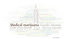 Word cloud of policy debates taking place in Parliament. Copyright: Library of Parliament.
