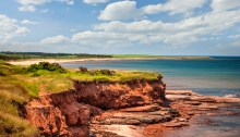 Red cliffs of Prince Edward Island. Atlantic coast at East Point, PEI, Canada. Photo: Thinkstock.com