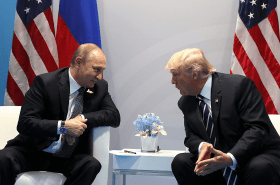 Donald Trump and Vladimir Putin likely slipped off for more chats