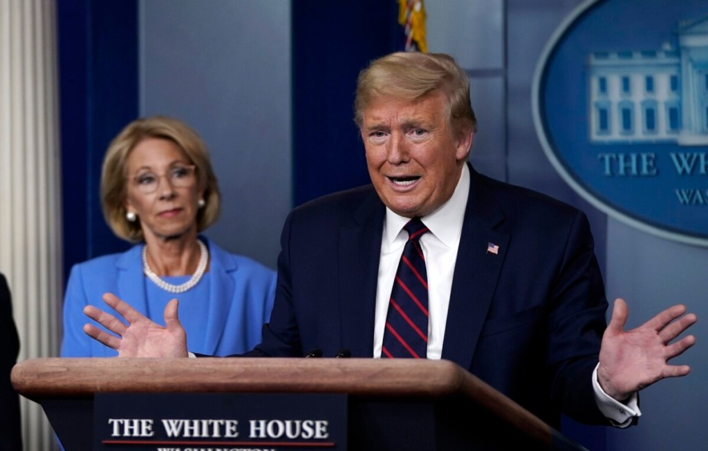 trump admin to endanger students and teachers in pandemic