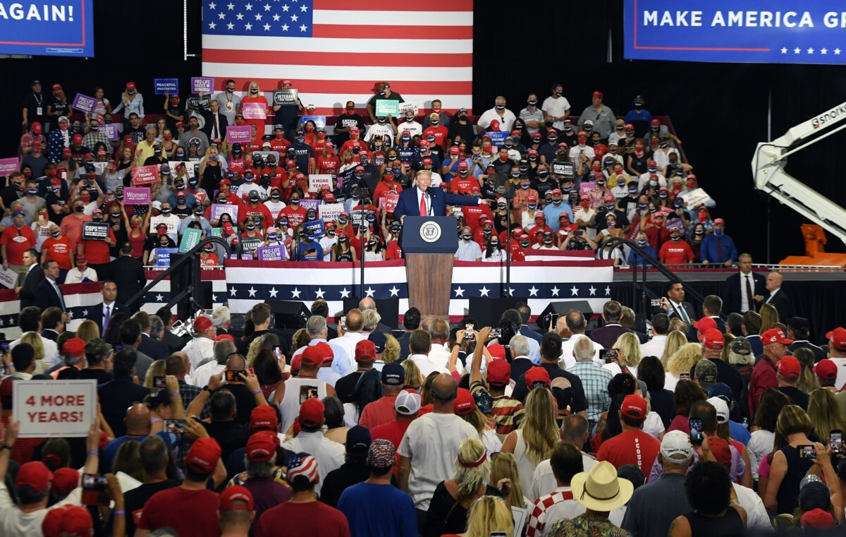 Donald Trump is sure rallies are safe, since he's not near the crowd