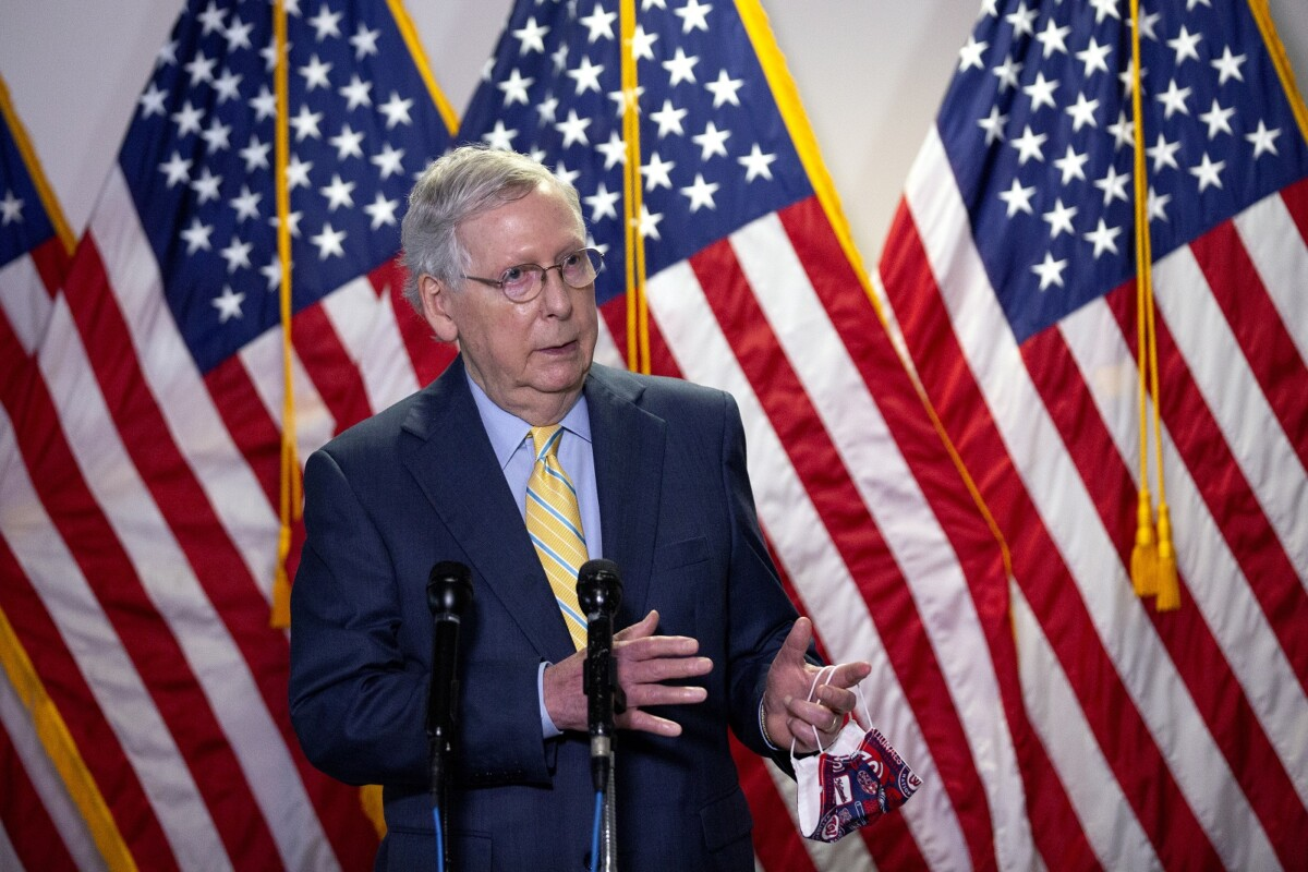 Mitch McConnell promises peaceful transition of power Jan 20