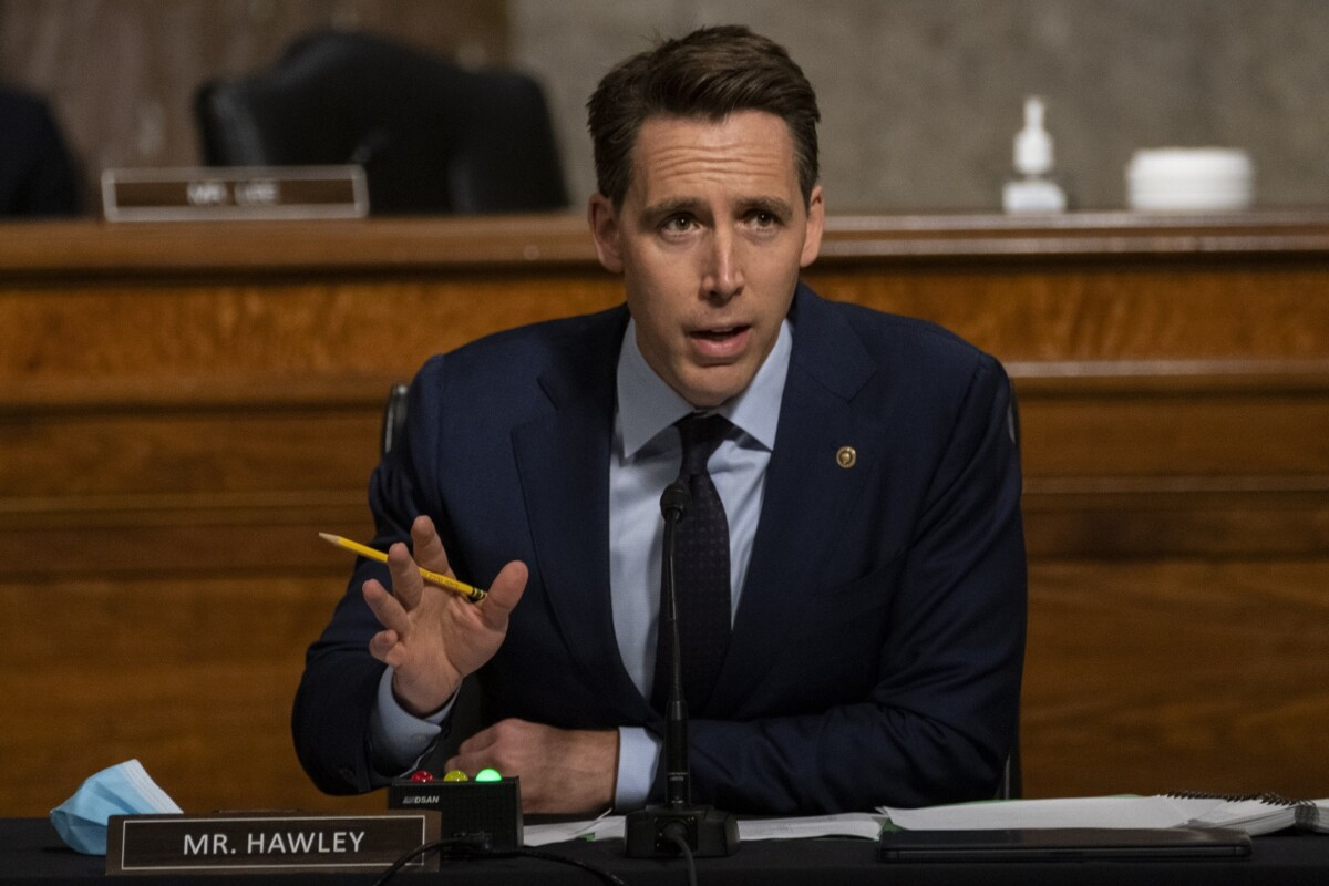 Josh Hawley says Facebook has monopoly