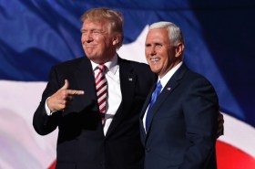 Mike Pence holds Trump rally, a full months after the election.