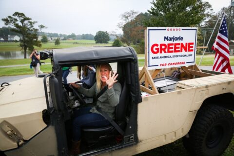 Marjie Greene says there's a chance to overturn the election
