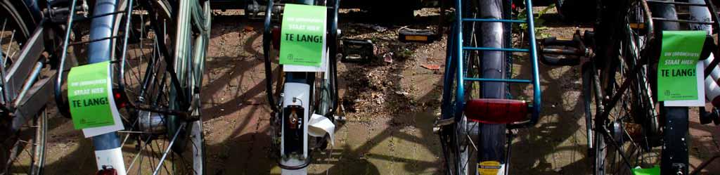 Kwart van foutparkerende fietsers haalt fiets niet op