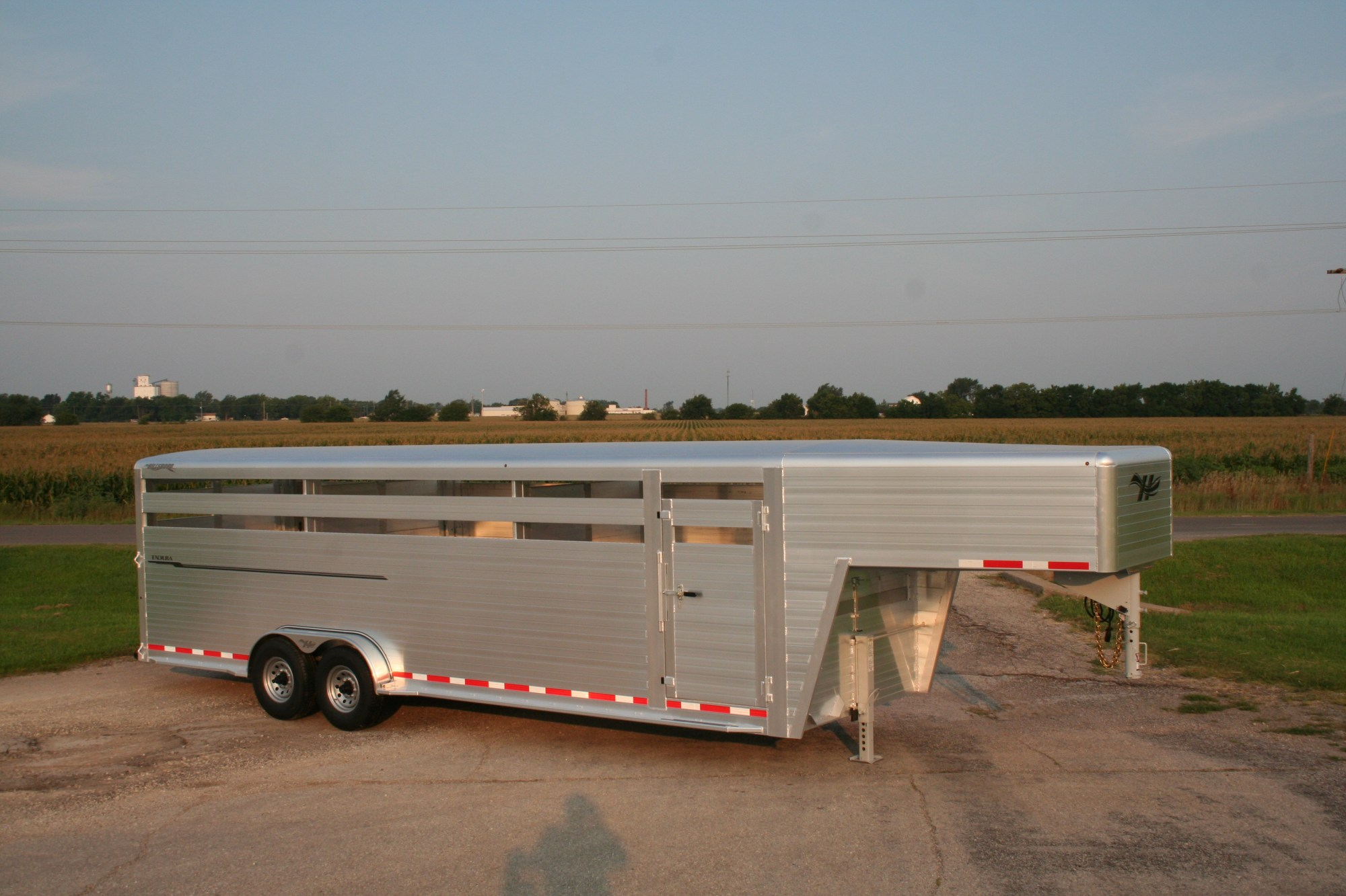 hight resolution of endura livestock trailer shown with optional front vent and cover