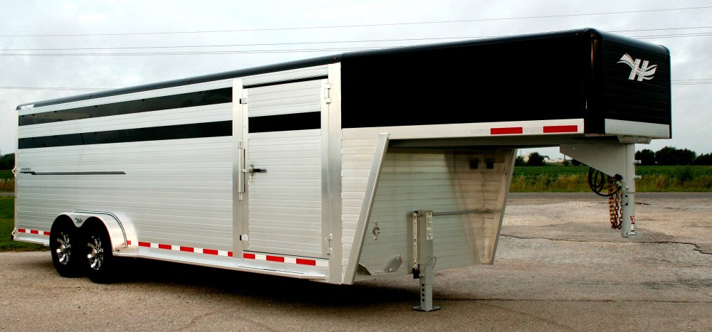 medium resolution of shown with optional painted roof cove nose painted black contact your local dealer for pricing hillsboro industries endura aluminum livestock trailer