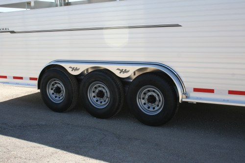small resolution of hillsboro industries endura aluminum livestock trailer optional 3 axle