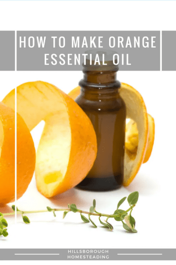 how to make orange essential oil