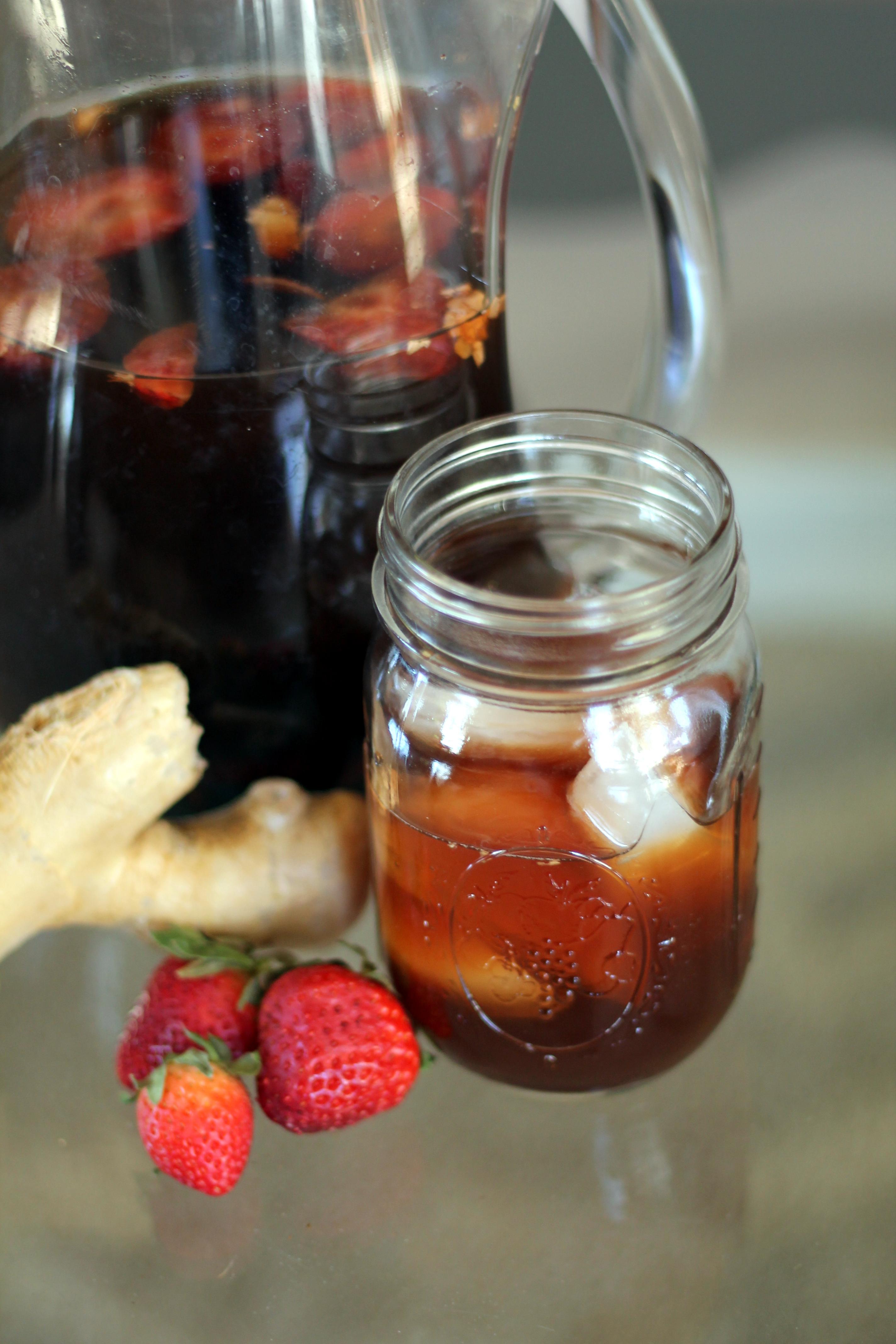 Strawberry Ginger Switchel