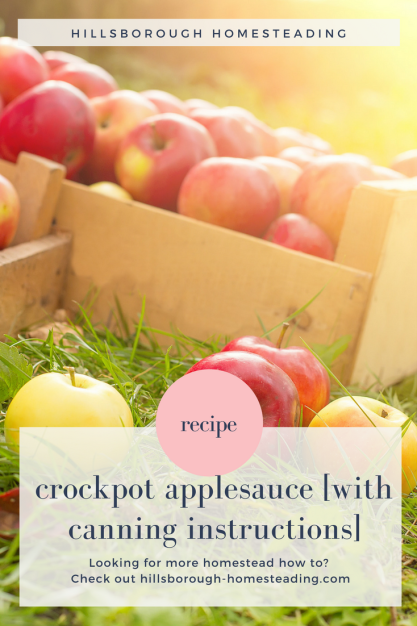 crockpot slow cooker applesauce