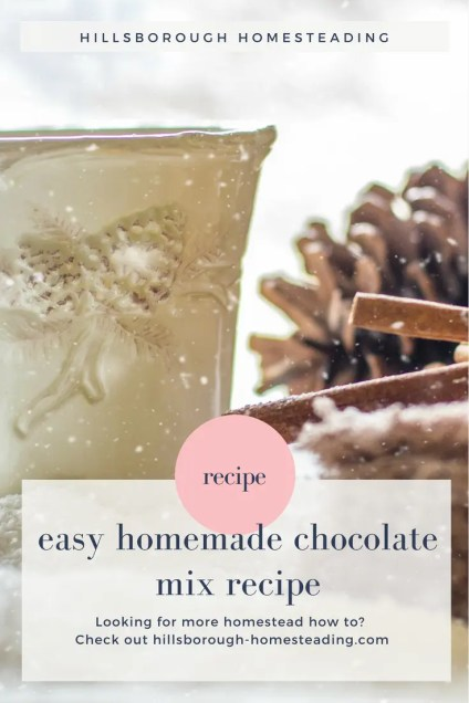 best homemade hot chocolate mix without powdered milk in a jar recipe