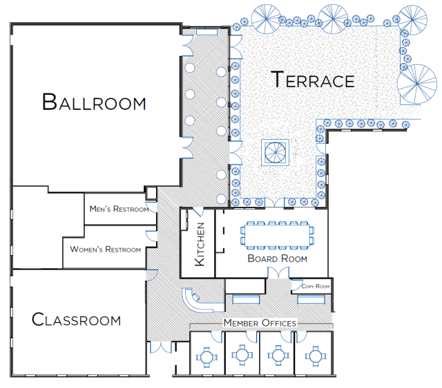 Charlottesville conference center - floorplan
