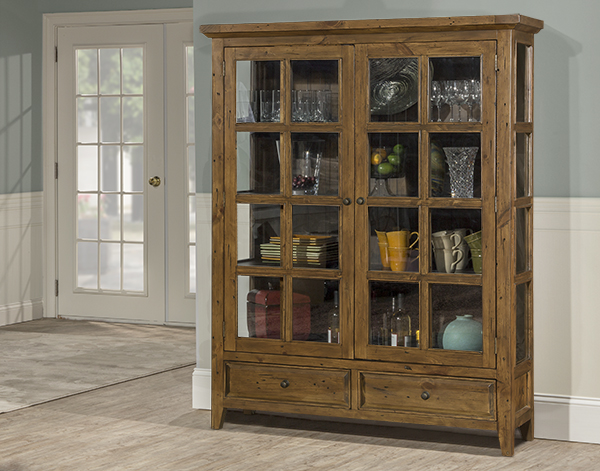 Tuscan Retreat Display Cabinet 2 Doors 2 Drawers with