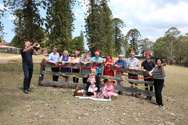 Mayor of The Hills Shire, Dr Michelle Byrne with her daughters Maddison and Alexis and representatives from the Lisa Harnum Foundation, Snap Norwest, Wesley Uniting Church, Castle Towers, HCA, St Paul's Castle Hill, Transurban Group, The Sanctuary and orchestra members.