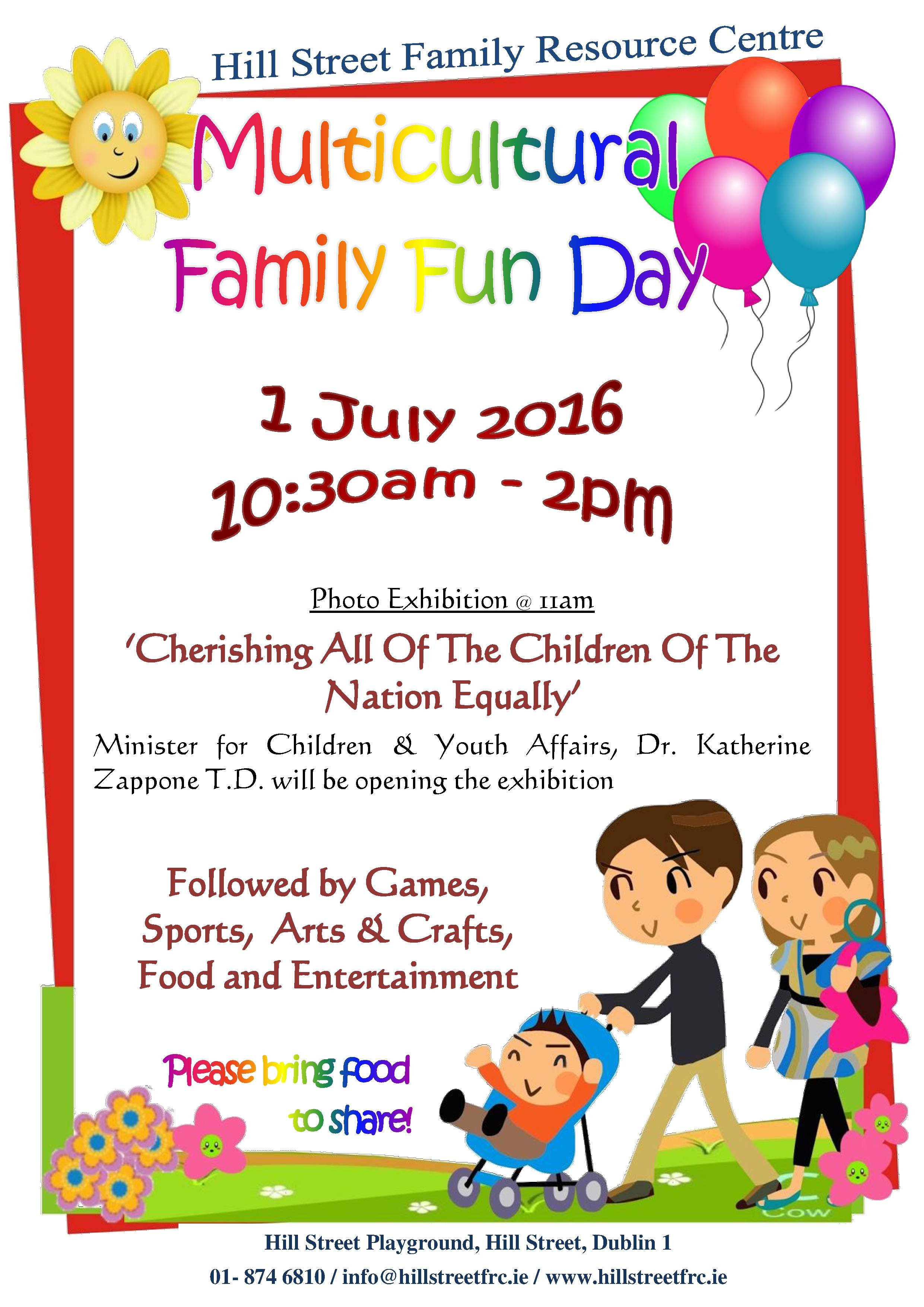 Join Us On The 1st Of July For Multicultural Family Fun