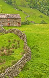 Yorkshire photos often feature dry stone walls and field barns