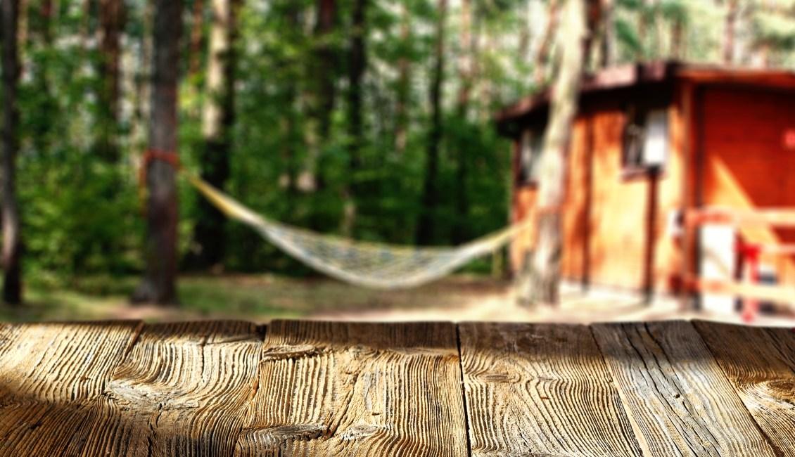 Hammock on campground