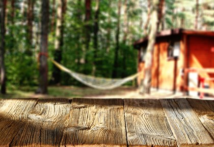 Hammock on campground