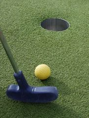 Who knew there was so much math and science at play when we're trying to get a hole-in-one on the mini golf course? Everyone in your family can put these skills to use at the Holyoke Public Library this week!