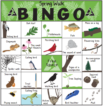 Nature bingo and scavenger hunts connect us with the seasons while getting kids outdoors and teaching young naturalist through experiential learning.