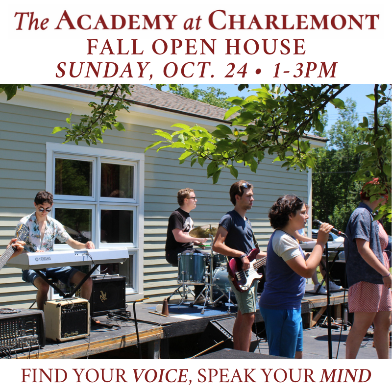 The Academy at Charlemont Fall Open House 2021