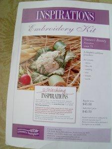 Stumpwork Cauliflower from Inspirations Magazine