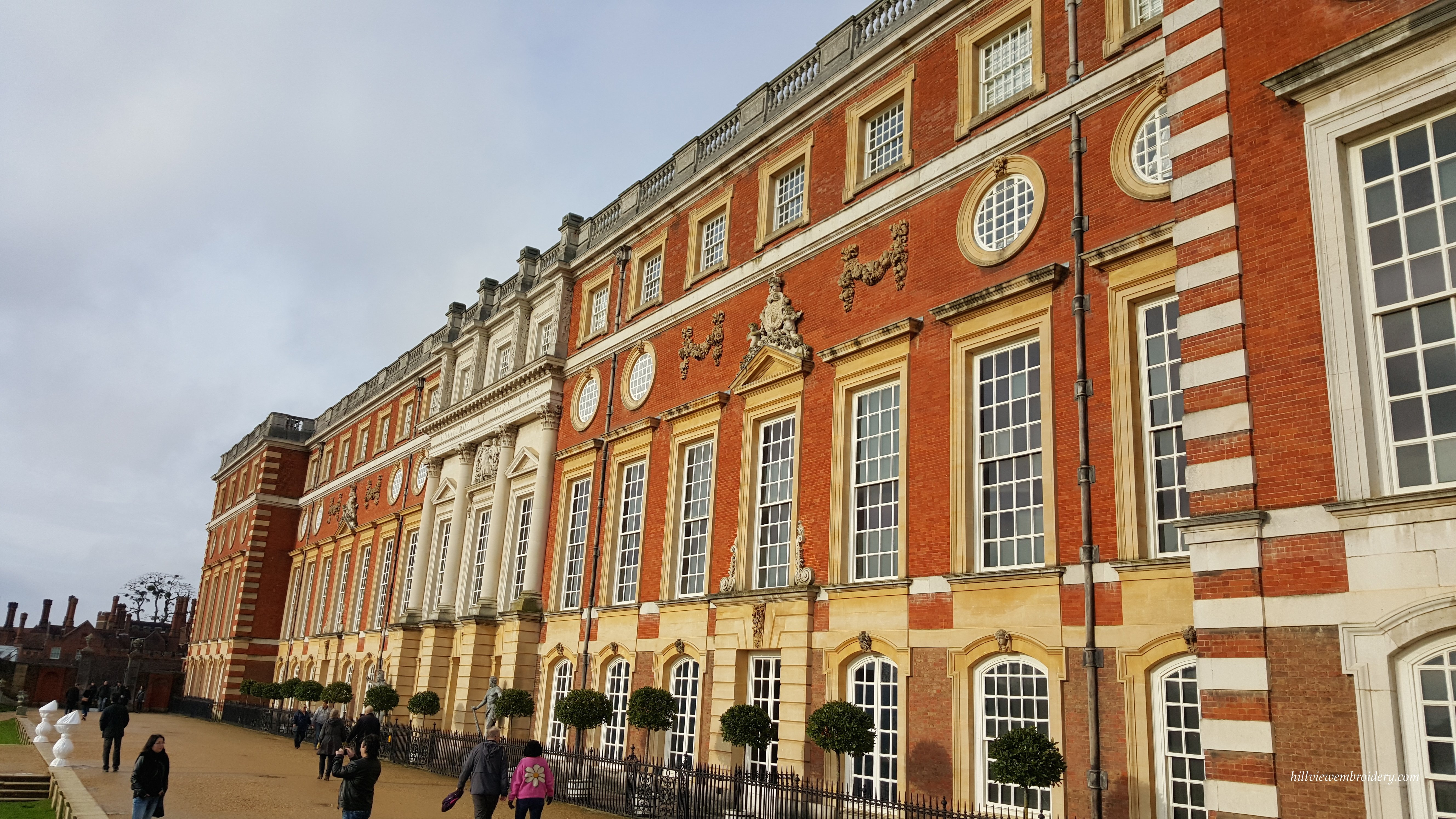 The outside wall of the Palace - our room was on the top floor, behind some of those windows!
