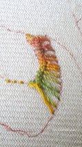 beginning of vandyke stitch