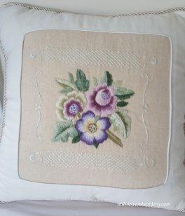 three flowers cushion