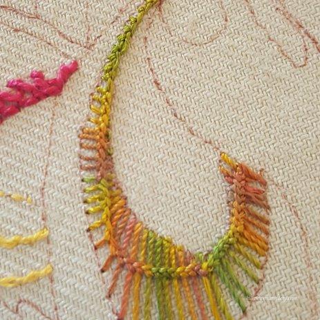 vandyke stitch up close