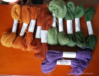 Appelton wools used in Jacobean crewelwork