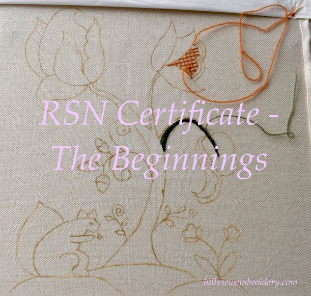Starting the RSN Certificate in Technical Hand Embroidery