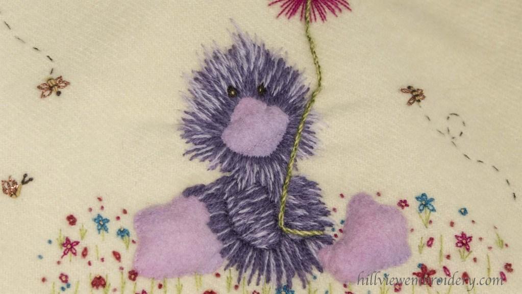 purple duck baby blanket