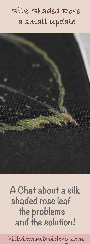 silk shaded rose leaf progress