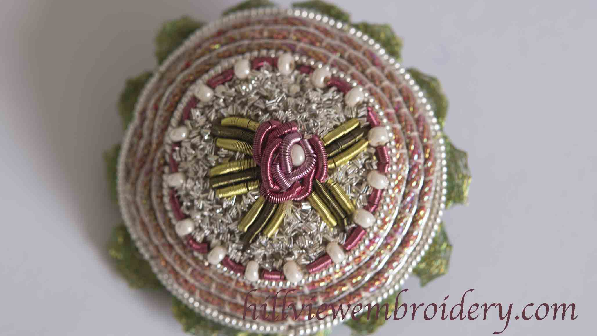 Completed brooch, designed by Jenny Adin-Christie