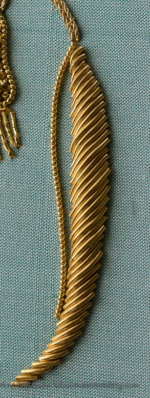 rsn certificate goldwork demonstrating cutwork over string padding